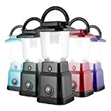 Enbrighten LED Mini Camping Lantern, Battery Powered, 200 Lumens, 40 Hour Runtime, 3 Light Levels, Ideal for Hiking, Outdoors, Emergency, Snow, Hurricane and Storm, Black, 49559