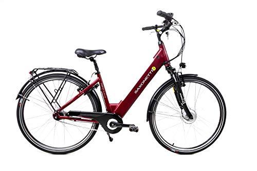 28 Zoll Saxonette Comfort Plus 2.0 Elektro E-Bike Pedelec City 7 Gang 36V Damen Bordeaux C-Ware