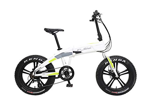 Flebi Bigfoot Bicicleta Eléctrica, White, 173x115x57