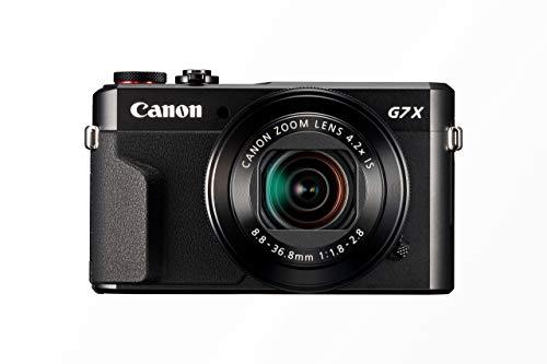 Canon PowerShot G7 X Mark II Digitalkamera (mit klappbarem Display, 20,1 MP, 4,2-fach optischer Zoom 7,5 cm (3 Zoll) LCD-Display, Touchscreen) schwarz (Generalüberholt)