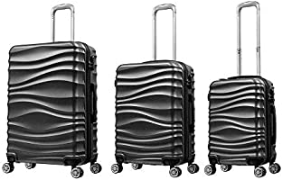 Troley Travel Bags 3Pcs by R and F -Black - RF-001