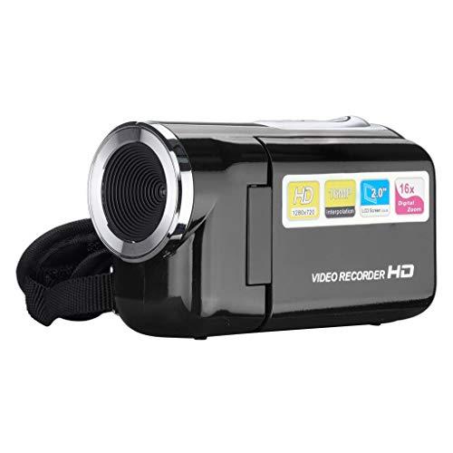 Ecosin 2020 New Video Camcorder HD 720P Handheld Digital Camera 4X Digital Zoom 2.0 inch Gift (Black)