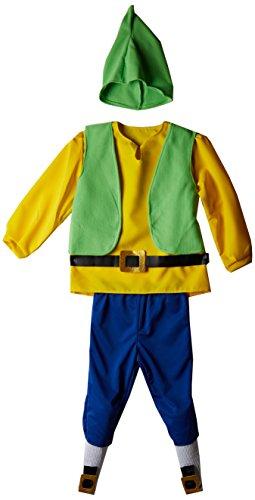 Creaciones Llopis - Disfraz de enanito para niños de 9/11 años, color amarillo, talla L