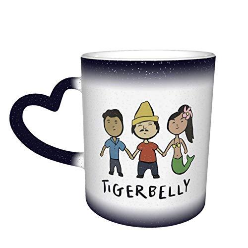 Tigerbelly Podcast Design Gift Taza que cambia de color en el cielo Taza de cerámica Taza de café Regalo de cumpleaños de Navidad