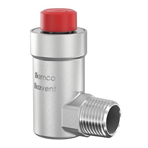 Flamco Flexvent H 1/2 Schwimmerentlüfter, Schnellentlüfter, Thermostatventil, Flexvent-Entlüftung Vernickelt 27710