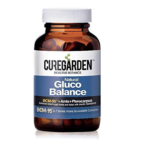 Curegarden Gluco Balance Supplement, Capsule made by Combining Amla, Turmeric and Pterocarpus Extract Helps to Control Blood Sugar, Diabetes- 60 Caps