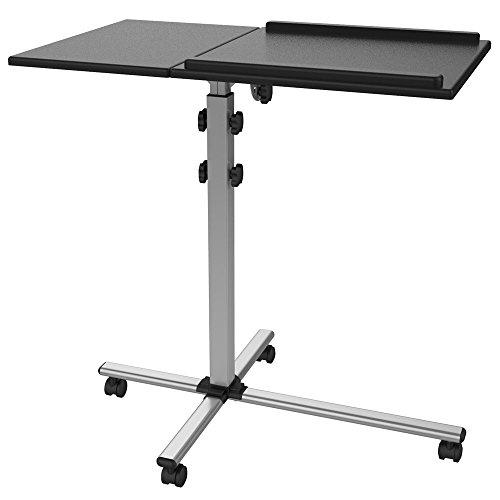 Mobiele projector Beamer wagen trolley notebook laptop tafel TS-2 met 2 platen stabiel mobiel kantelbaar