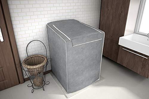 Capa Para Máquina De Lavar Roupas Adomes M3004 Tampa Com Zíper 12 A 16 Kg  CINZA  UNICA