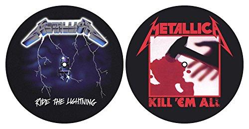 Metallica 'Kill Em All/Ride The Lightning' Turntable Slipmat Set