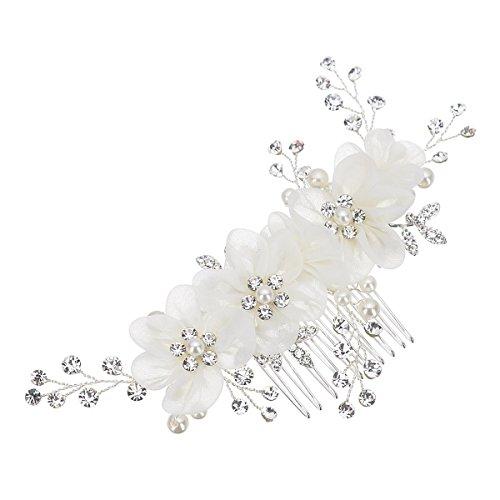 Unbekannt Braut Hochzeit Perlen Haarschmuck Haarblume Blüte Blume Schmuck Haarkamm Braut Frisur