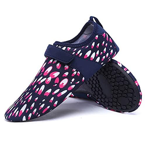 Hwqsw Mujer Playa Verano al Aire Libre Zapatos de balanceo natación Zapatilla en Surf Quick-secanding Aqua Zapatos Piel Calcetines de Agua Zapatos de Agua (Size : 37~38)