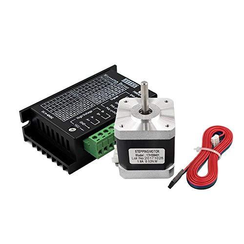 WEI-LUONG Motor 17HS8401 Nema 17 Stepper Motor 42 Motor 1.3A with TB6600 Stepper Motor Driver NEMA17 23 CNC Laser and 3D Printer