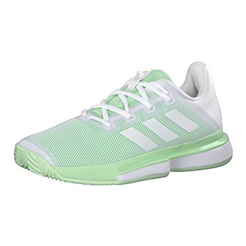 adidas Sole Match Bounce Allcourtschuh Damen-Hellgrün, Weiß Zapatillas de Tenis, Mujer, FTWR White Glow Green-Reloj de Pulsera para Hombre, 36 2/3 EU