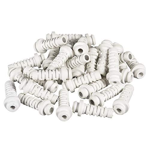 sourcing map 30 Stück PVC Zugentlastung Kabelknickschutz Kabelschutz 4mm Innendurchmesser