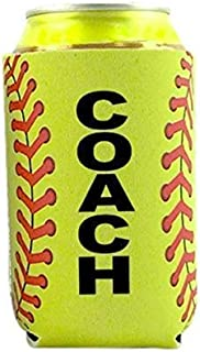 Softball Coach Gift for Men Women Idea from Team Beer Can Cooler Holder Sleeve