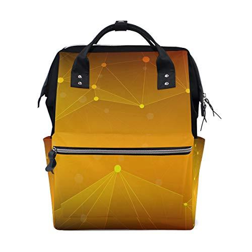 Sac à langer grande capacité, sac à dos à langer maman pour soins de bébé, sac à dos de voyage élégant multifonction jaune galaxie élégant pour maman et papa