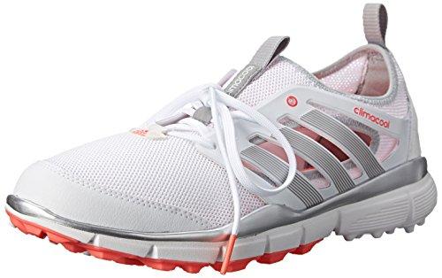 adidas Damen W Climacool II Golfschuh, Weiá (Weiß/Silber Metallic/Flash Red), 39 EU