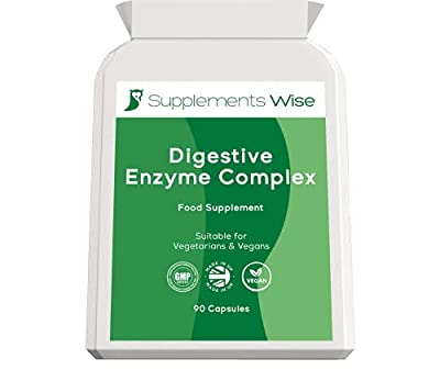 Digestive Enzyme Supplements - 90 Capsules for a Healthy Gut - Digestion Tablets for Bloating Relief - Vegan UK Made Complex with Pancreatic Enzymes Protease, Amylase, Lipase Plus Bromelain and More