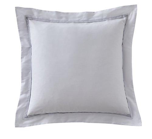 Blanc des Vosges Taie carrée Amboise Metal 65 x 65 cm - Satin 100% coton