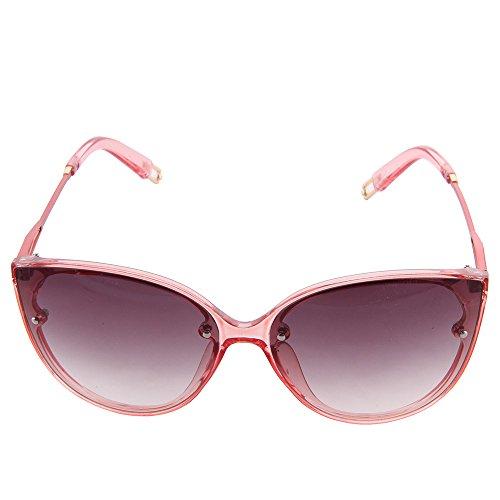 OGOBVCK cat eye runde mode sport driving frauen - sonnenbrille (rot)