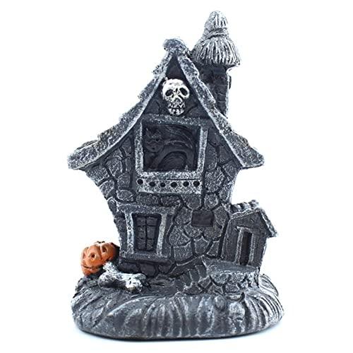 Tatoonly Casa encantada Ligera y portátil Casa encantada de Halloween Modelado Interesante Accesorios Divertidos de Halloween