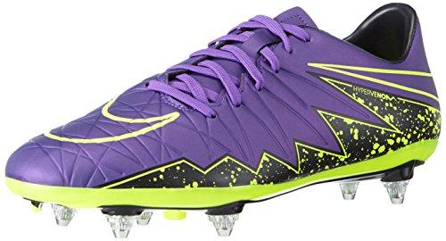 Nike Hypervenom Phelon II SG, Botas de fútbol Hombre, Morado/Negro/Verde (Hyper Grape/Hypr Grape-Blk-Vlt), 42