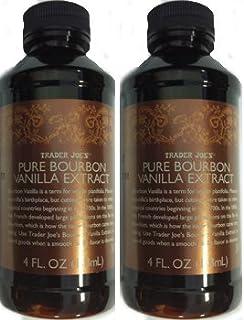 (Pack of 2 - 4 OZ Bottles) Trader Joe's Pure Bourbon Vanilla Extract