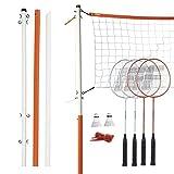 Franklin Sports Badminton Set - Backyard Badminton Net Set - Rackets and Birdies...