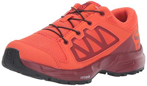 Salomon Kids' XA Elevate J Trail Running Shoes, CHERRY TOMATO/Red Dahlia/Black, 3