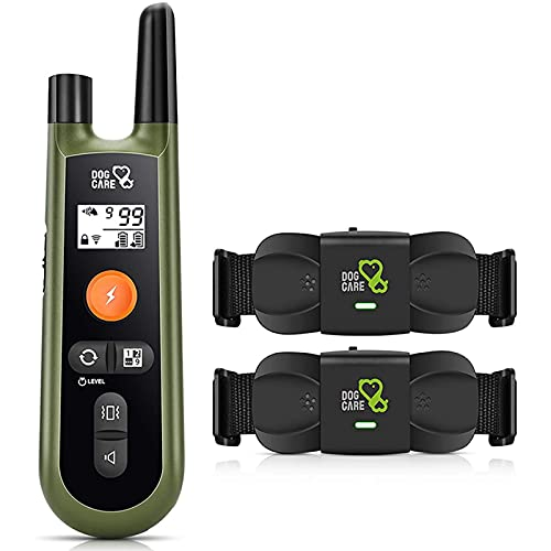 DOG CARE Dog Training Collar Dog Shock Collar with Rechargeable Two Receivers with Remote