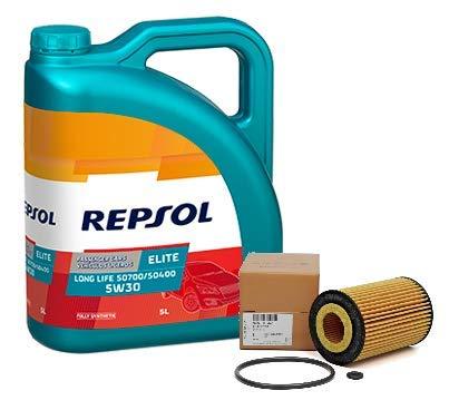 Repsol Duo motorolie Elite 50400 50700 5W-30 5 liter oliefilter Original TDi, 03N115562