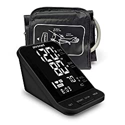 Blood Pressure Monitor by Paramed: Automatic Upper Arm Machine & Digital BP Cuff Kit 22-40cm - Large LCD Display - 120 Sets Memory, LCD & Talking - Includes Batteries, AC Adapter, Carrying Case