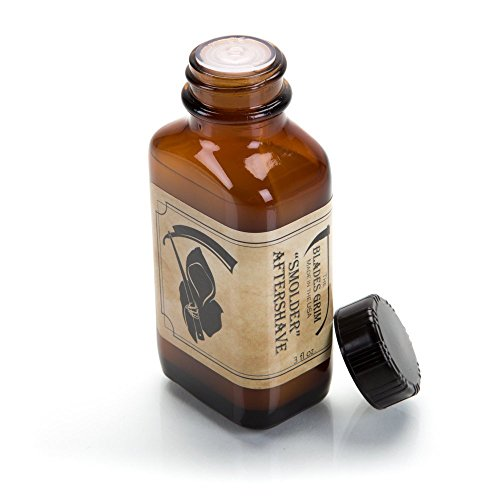 The Blades Grim  Aftershave Oil, Handmade in The USA (Smolder, 3oz)
