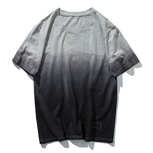 2XL,Wei/ß Karinao Herren Shirts Brief Drucken Sommer Sports T-Shirt Einfarbig Kurzarm Sportshirt Fitness Funktionsshirt