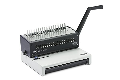 GBC CombBind C250Pro Encuadernadora de Canutillo, Perfora hasta 20 Hojas, Encuaderna hasta 450 Hojas, A4, Negro,