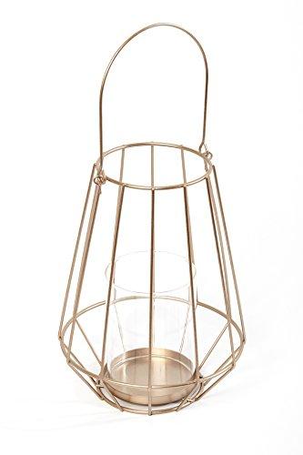 HEITMANN DECO Metall-Windlicht - goldene Laterne zum Aufhängen mit Glaseinsatz für Teelicht/Kerze - Kerzenhalter
