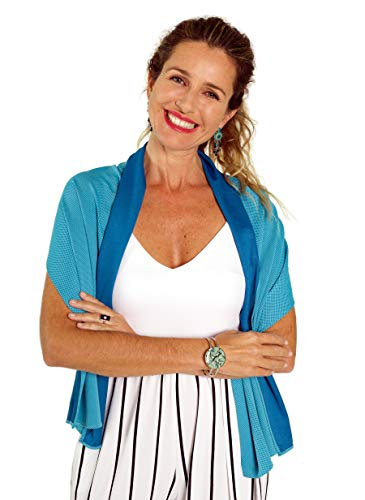 "Stylish Cooling Scarf for Instant Cooling Relief – Luxuriously Soft Cooling Scarf for Sports, Outdoor Events, Holidays, Face Protection, Hot Flash Relief, Night Sweats – Lasts for Hours, 59"" x 15"""