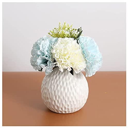 Flores artificiales simulación de hortensia decoraciones florales realistas flores falsas de la sala de estar decoraciones de mesa en maceta Decoraciones para el hogar Decoraciones Pequeñas Piezas Dec