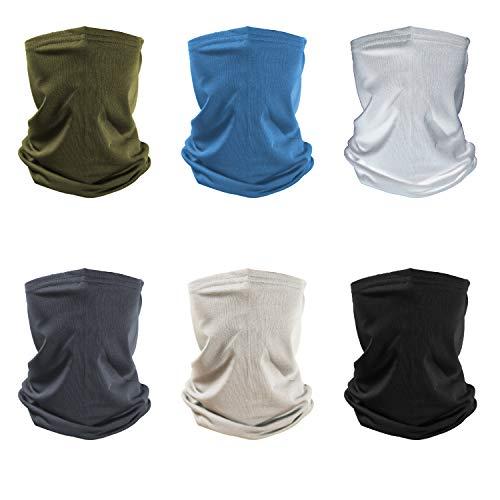 TISSCARE Outdoor Multifunktionstuch Schlauchtuch Sport-Halstuch Bandana Kopftuch, Stirnband,Schnelltrocknend Atmungsaktiv Weich Gesichtsmaske,Unisex (Mehrfarbig Set)