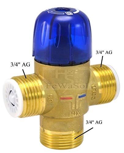 Brauchwassermischer 35-70°C 3x 3/4