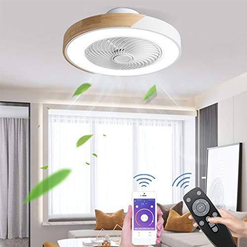 Dormitorio Ventilador de Techo Con Iluminación Control Remoto Silencioso Moderno Ventilador De Techo Led Luz de Techo Con Control Remoto 3 Velocidades Velocidad Del Viento Ajustable Luz de Techo