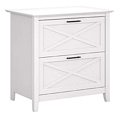 Bush Furniture Key West 2 Drawer Lateral File Cabinet in Bing Cherry