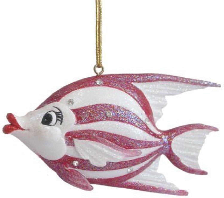 December Diamonds Aquatic Ocean Nautical Stripe Fish Swim Ornament