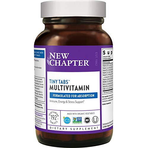 New Chapter Tiny Tabs Multivitamin with Energy Stress and Immune Support + Vitamin D3 + B Vitamins, 192 Count