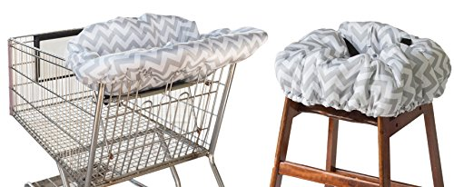 Itzy Ritzy Shopping Cart and High Chair Cover Featuring Padding, Toy Loops, Pockets and Safety Belts...