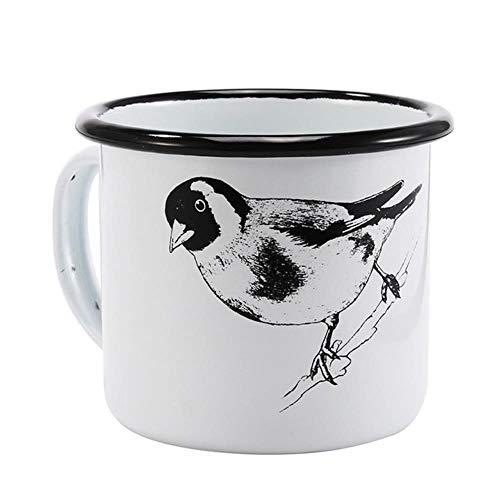 HENGCHENG Espressotasse Geschenk 350Ml Emaille Kaffeebecher Creative Animal Plant Frühstücksblack Roll Rim Mit Handgriff Milk Tea Cup, Lila, 350Ml