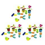 B Baosity 27 Piezas/Set Herramientas Infantiles Set de jardinería de Juguete de jardinería Herramientas Falsas para Niños,Rastrillo,Jarra y Macetas