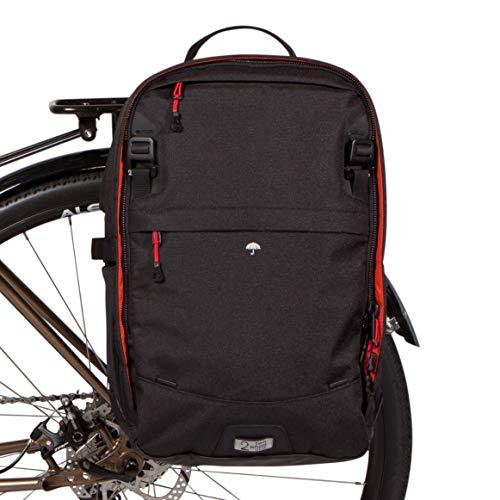 Two Wheel Gear - Rucksack Cabrio Satteltasche - 2 in 1 Fahrrad Pendler und Reise Bike Bag, (Schwarz)