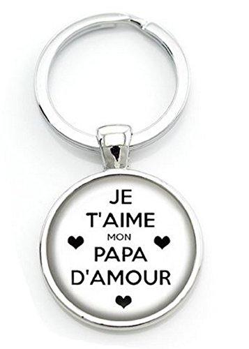 WAY2BB - Porte-clés fête des pères Je t'aime Mon Papa d'amour (3)
