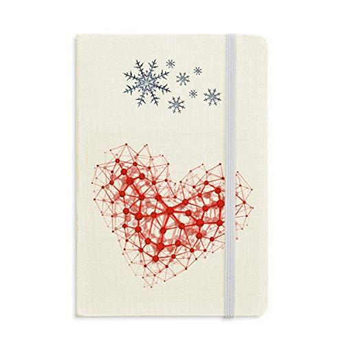 Red Estructura Atómica Cuaderno De Ilustración Física Diario Grueso Copos De Nieve Invierno